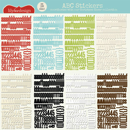Christmas Cheer ABC Stickers
