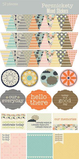 Persnickety Sticker Sheet