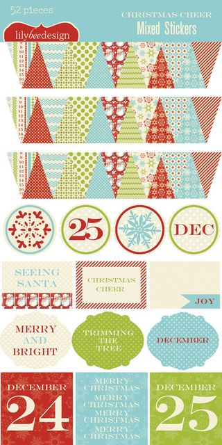 Christmas Cheer Mixed Sticker Sheet