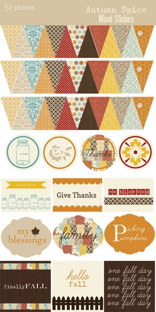 Autumn Spice Sticker Sheet 500
