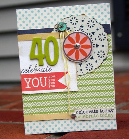 Celebrate 40 card470