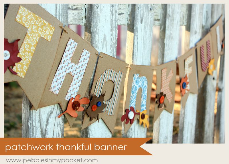 Patchwork thankful banner