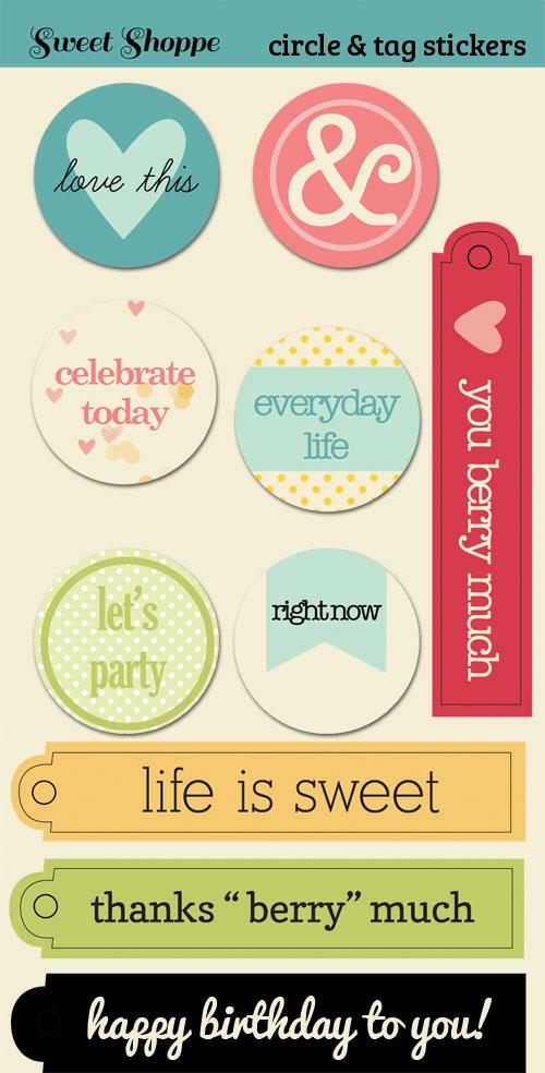 Sweet Shoppe Circles & Tags