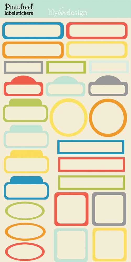 Pinwheel Label Stickers