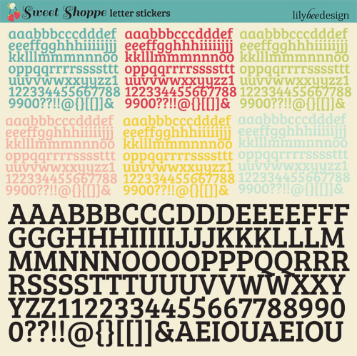 Sweet Shoppe Letter Stickers