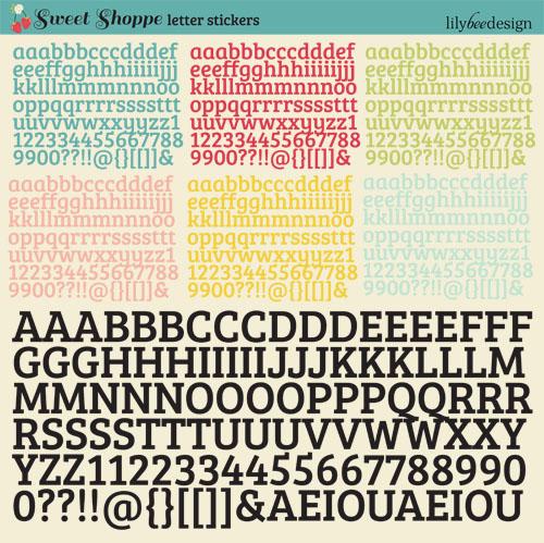 Sweet Shoppe Letter Stickers