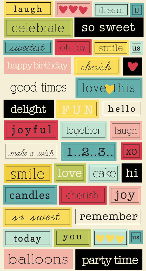 Sweet Shoppe Chit Chat Stickers
