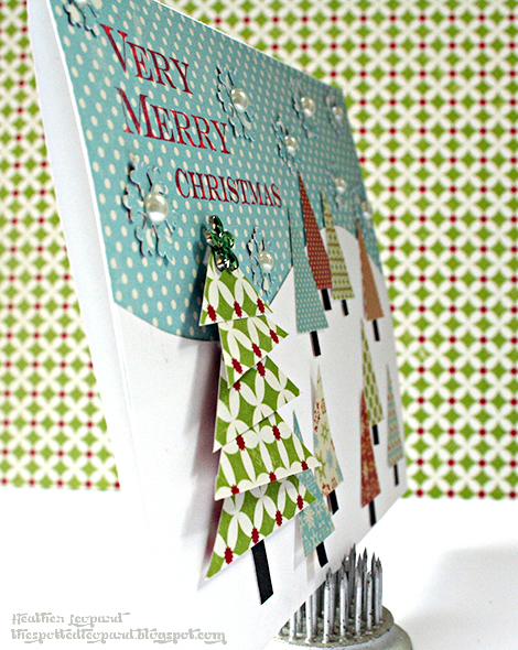 470 Very Merry Christmas Card tree wm