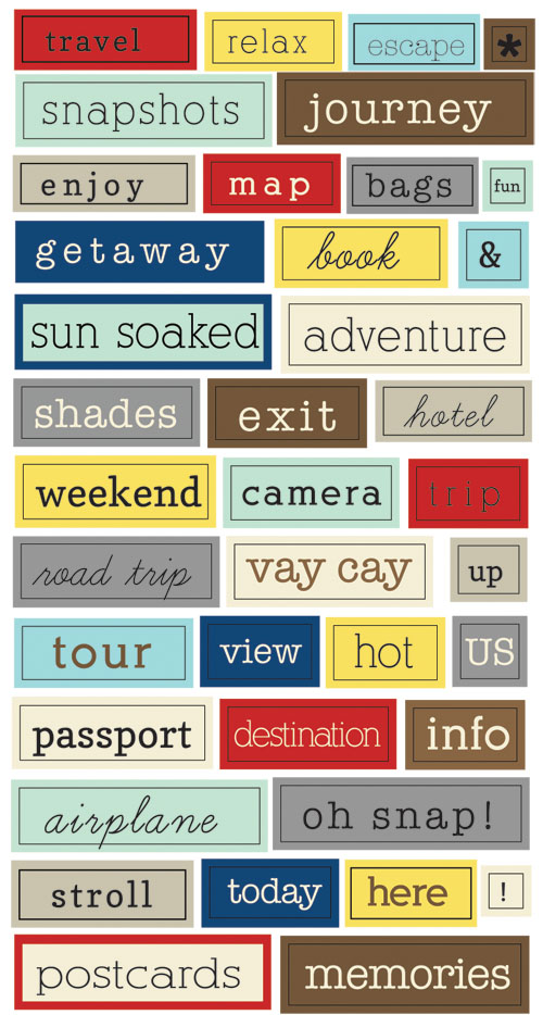 Destination Chit Chat Stickers