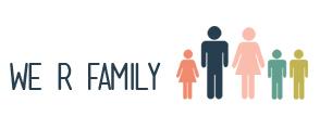 We r family logo