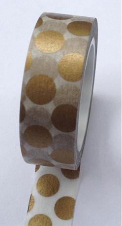 Gold dot washi