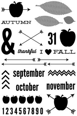 Urban Autumn Stamps
