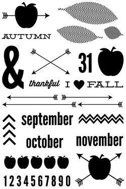 Urban Autumn Stamps