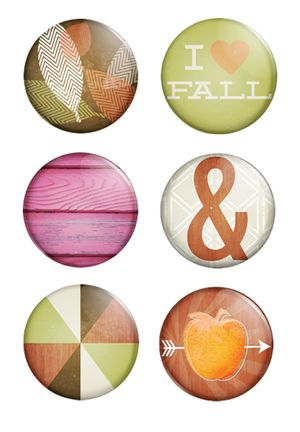 Urban Autumn Metal Badges